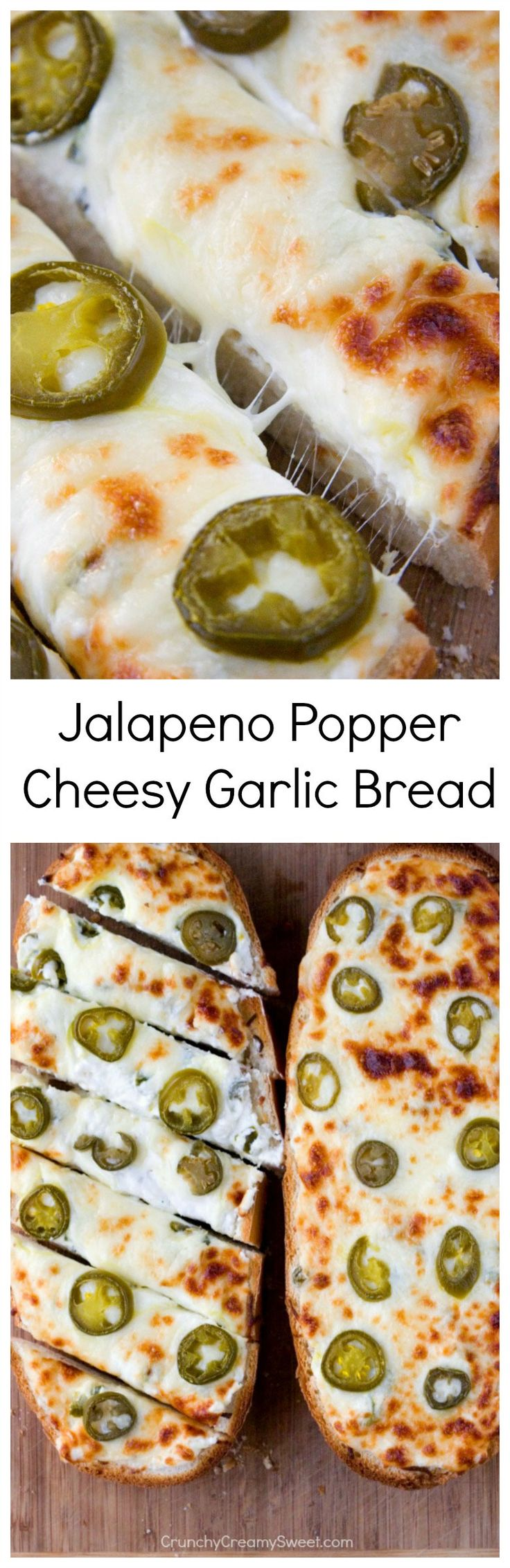 Jalapeno Popper Cheesy Garlic Bread | 25+ Game Day Foods
