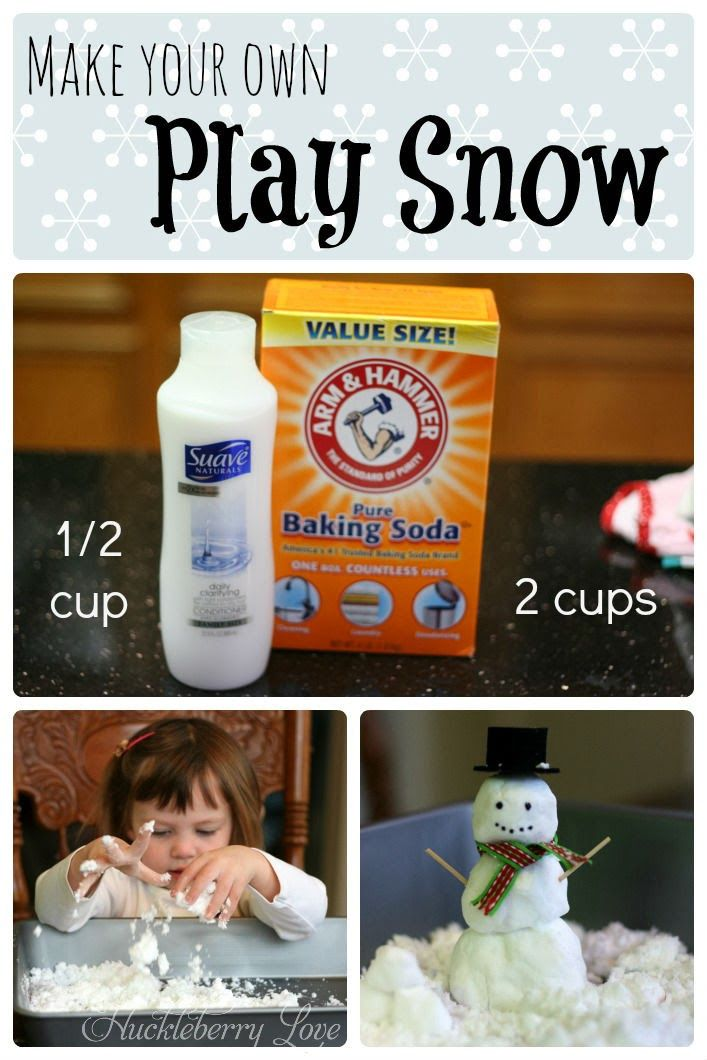 Make Your Own Play Snow | 25+ Indoor Winter Activities for Kids