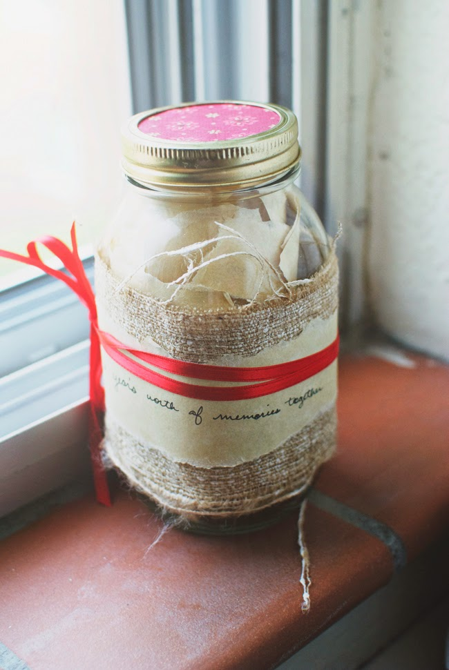 Memory Jar | 25+ Sweet Gifts for Him for Valentine's Day