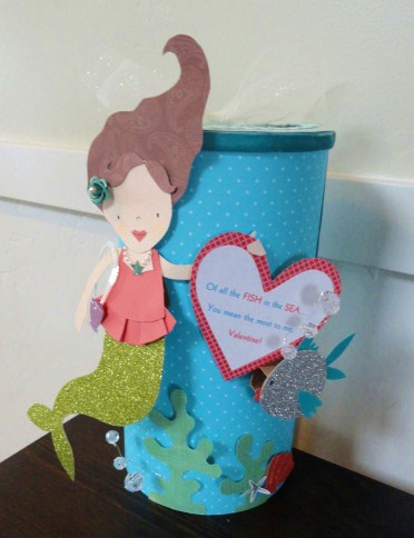 mermaid valentine box - Valentine Boxes For Girls