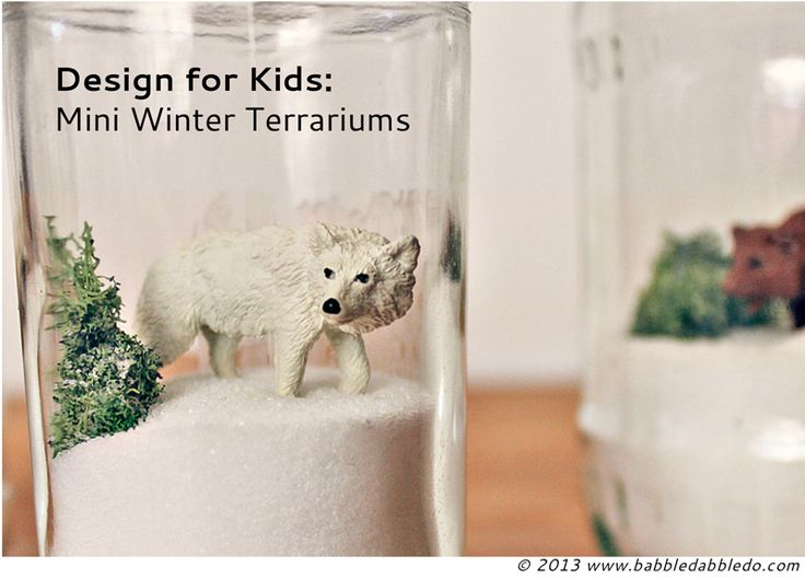 Mini Winter Terrariums | 25+ Indoor Winter Activities for Kids