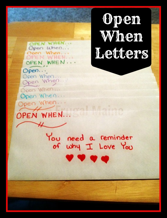 Open when... letters | 25+ Sweet Gifts for Him for Valentine's Day
