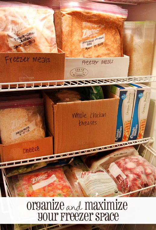 Organize and Maximize Freezer Space | 25+ Home Organization ideas