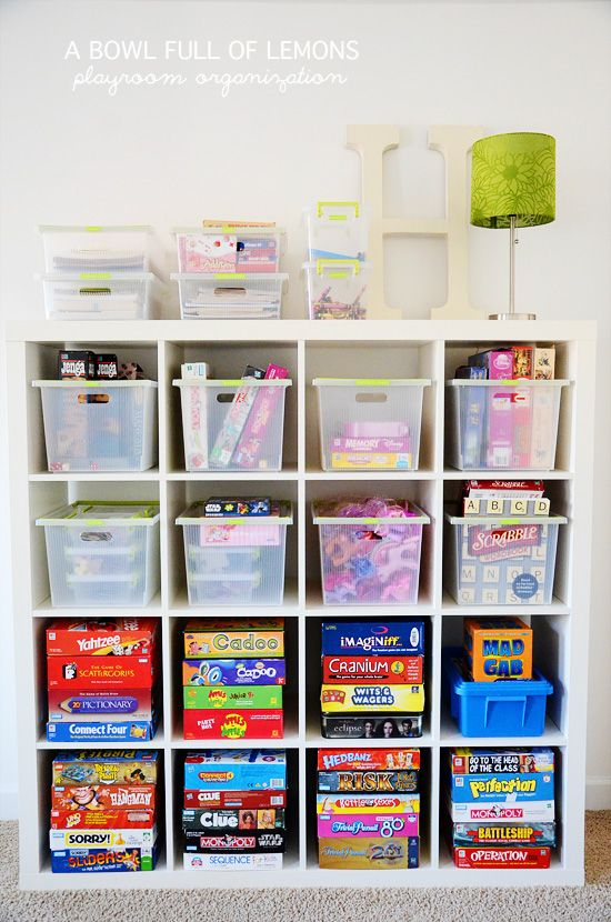 Organizing the Playroom | 25+ Home Organization ideas