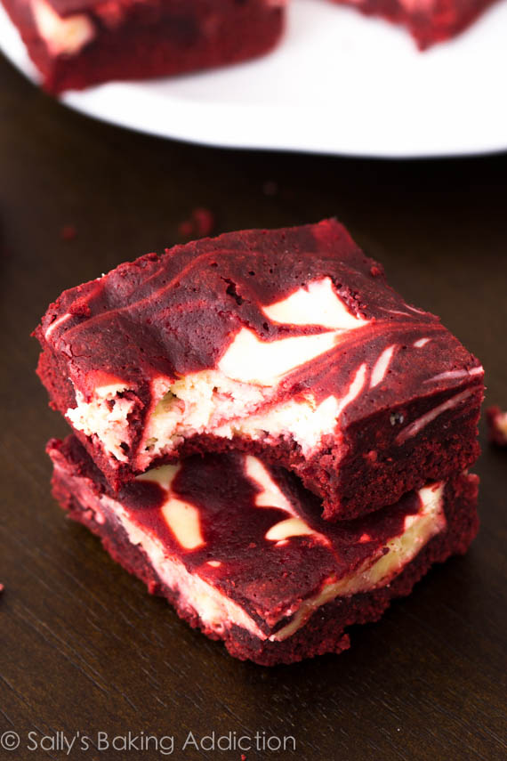 Red Velvet Cheesecake Swirl Brownies | 25+ Red Velvet Recipes