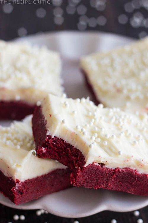 Red Velvet Cookie Bars with Cream Cheese Frosting | 25+ Red Velvet Recipes