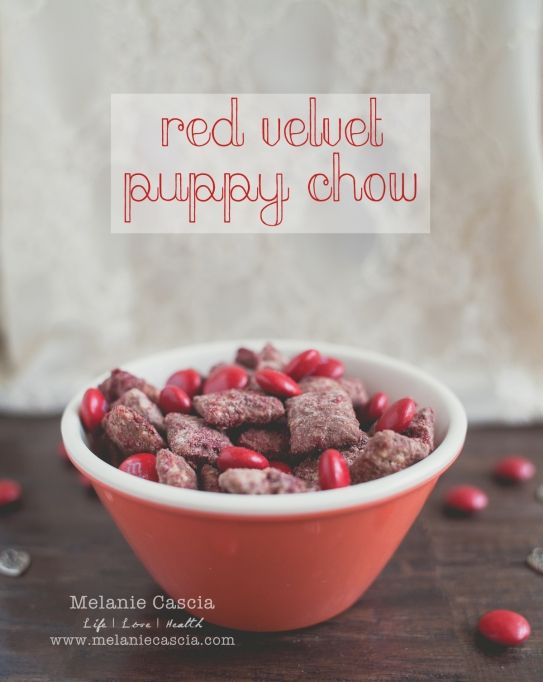 Red Velvet Puppy Chow | 25+ Red Velvet Recipes