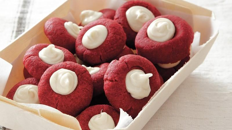 Red Velvet Thumbprints | 25+ Red Velvet Recipes