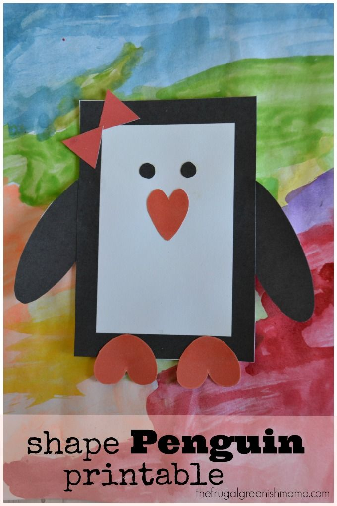Penguin Printable Craft | 25+ Indoor Winter Activities for Kids