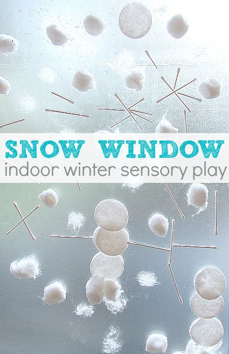 Snow Window Indoor Sensory Play | 25+ Indoor Winter Activities for Kids