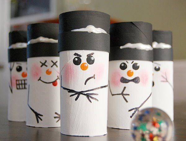 Snowman Bowling | 25+ Indoor Winter Activities for Kids