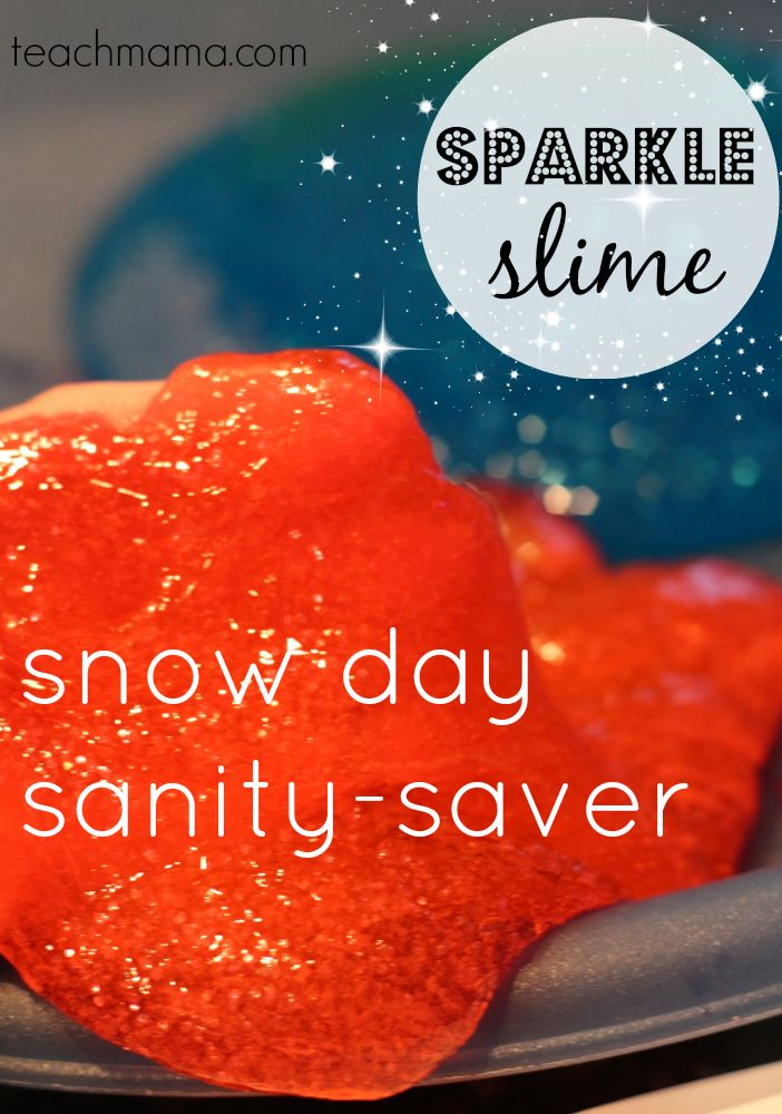 Snow Day Sparkle Slime | 25+ Indoor Winter Activities for Kids