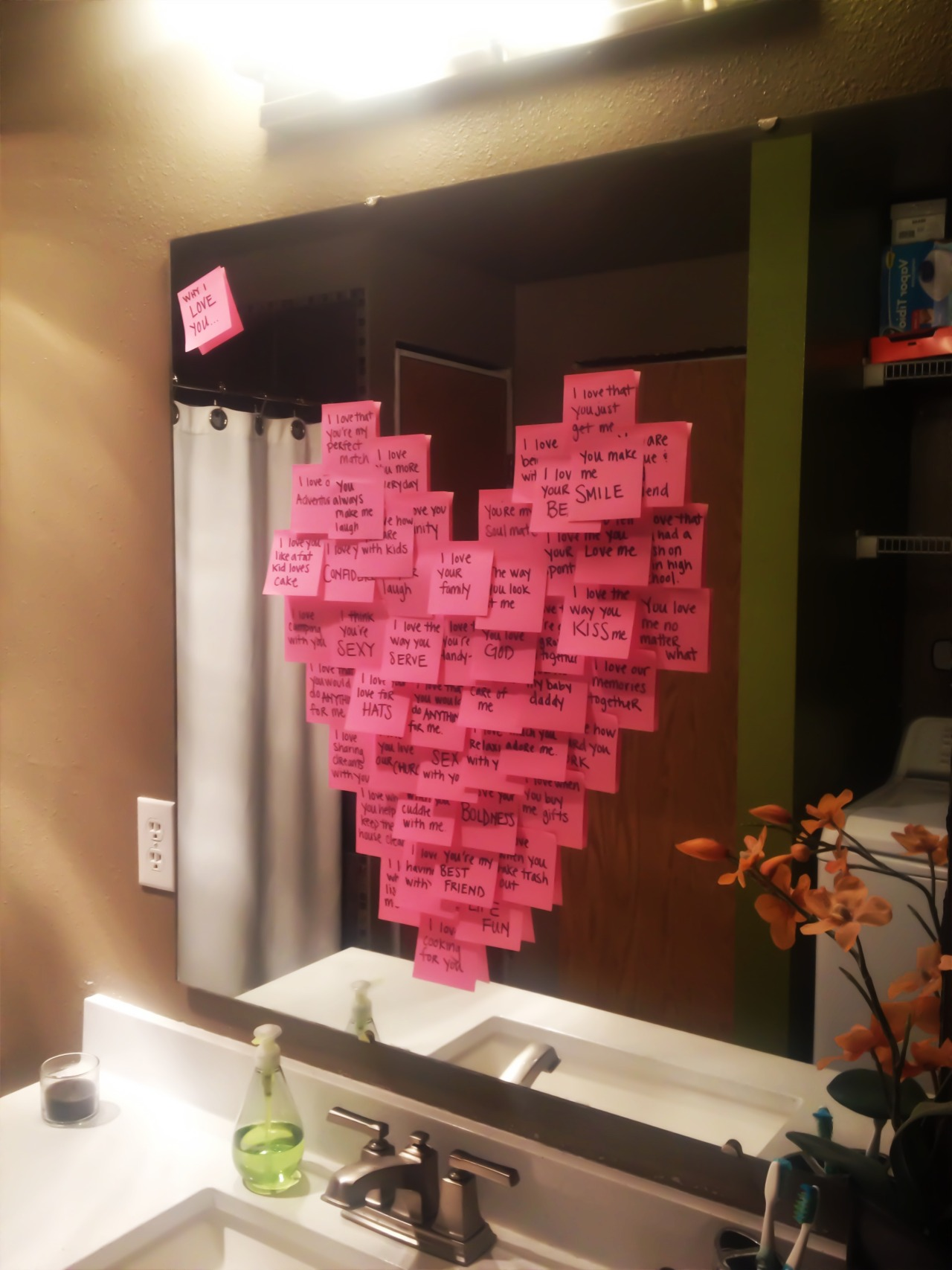 Sticky notes heart | 25+ Sweet Gifts for Him for Valentine's Day
