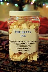 The happy jar | 25+ Sweet Gifts for Him for Valentine's Day