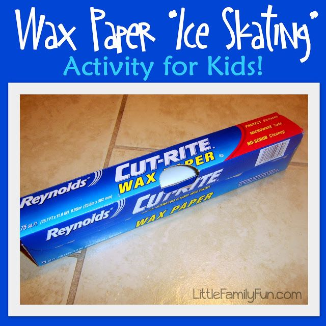 Wax Paper Ice Skating | 25+ Indoor Winter Activities for Kids