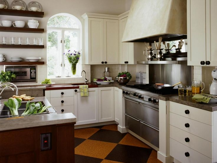 White Country Kitchen With Dark Wood Details | 25+ Dreamy White Kitchens