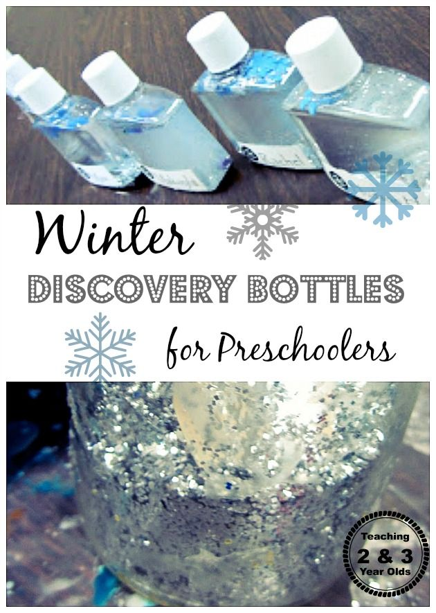 Winter Discovery Bottles for Preschoolers | 25+ Indoor Winter Activities for Kids