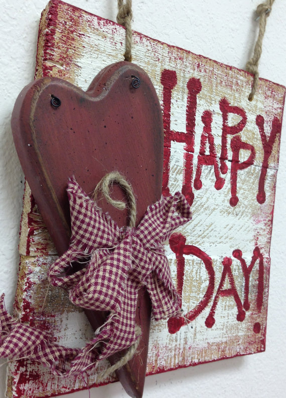 heart wood sign - 25+ Valentine's Day Home Decor Ideas - NoBiggie.net