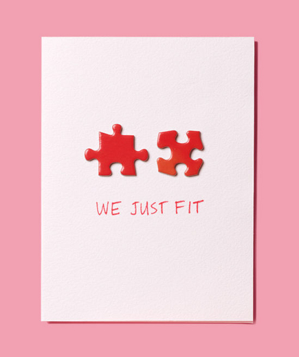 We Fit | Puzzle Piece Valentineu0027s Day Card