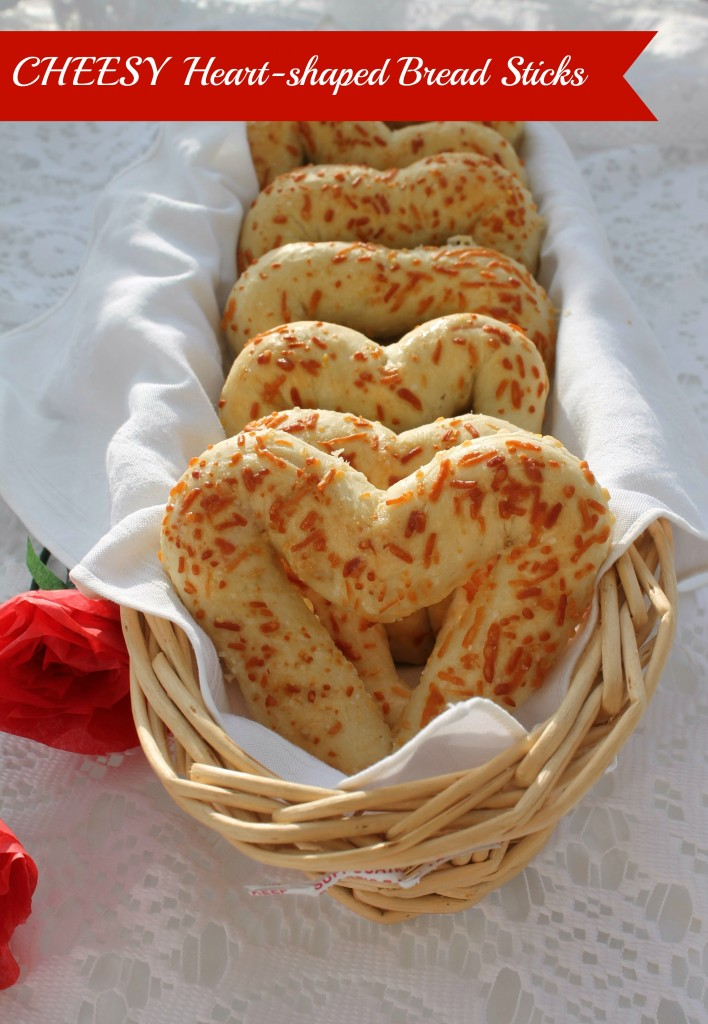 Cheesy Heart-Shaped Bread Sticks 25+ Heart-Shaped Food Ideas | NoBiggie.net