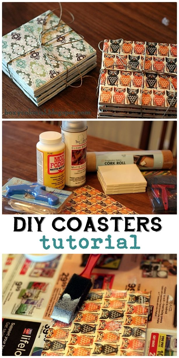 25 inexpensive diy birthday gift ideas for women for Homemade coaster ideas