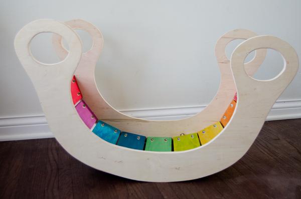 DIY Rainbow Rocker | 25+ Rainbow crafts, food and more