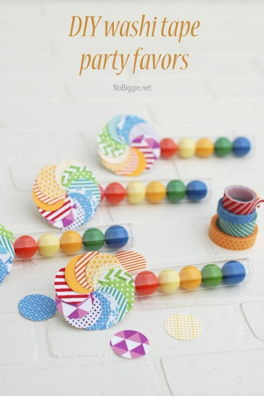 DIY washi tape party favors