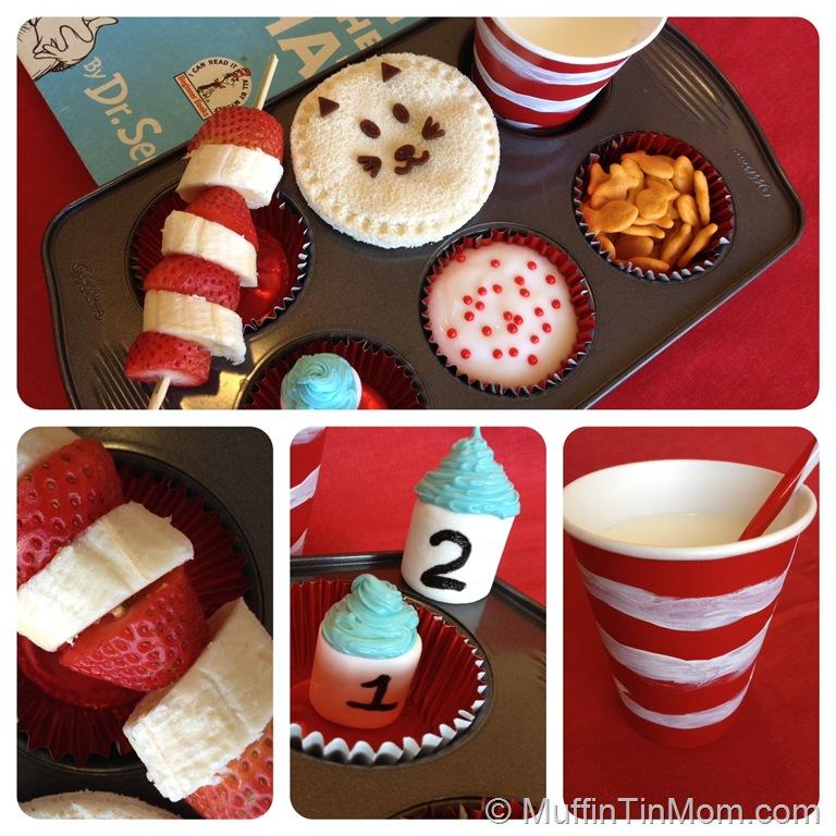 Dr. Seuss Muffin Tin   25+ Dr. Seuss Party Ideas