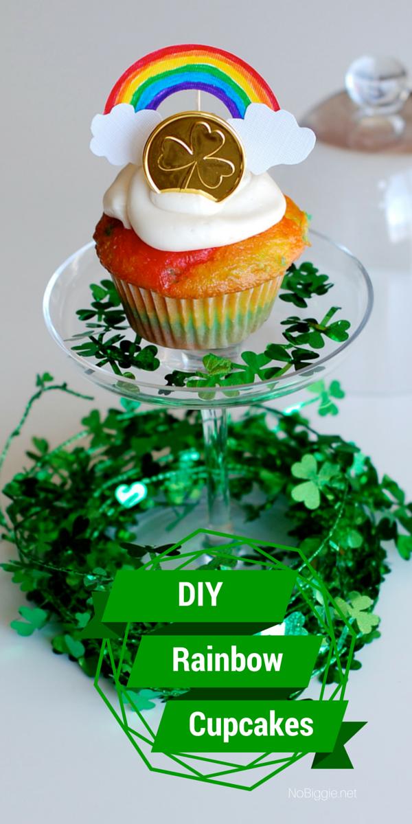 Easy DIY rainbow cupcakes | 25+ Rainbow crafts and food ideas