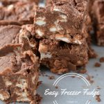 Easy Freezer Fudge | NoBiggie.net | this fudge is so good!