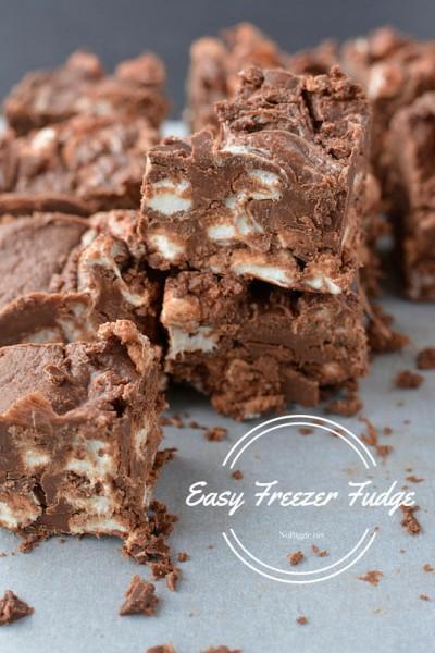 Easy Freezer Fudge | NoBiggie.net | this fudge is so good!