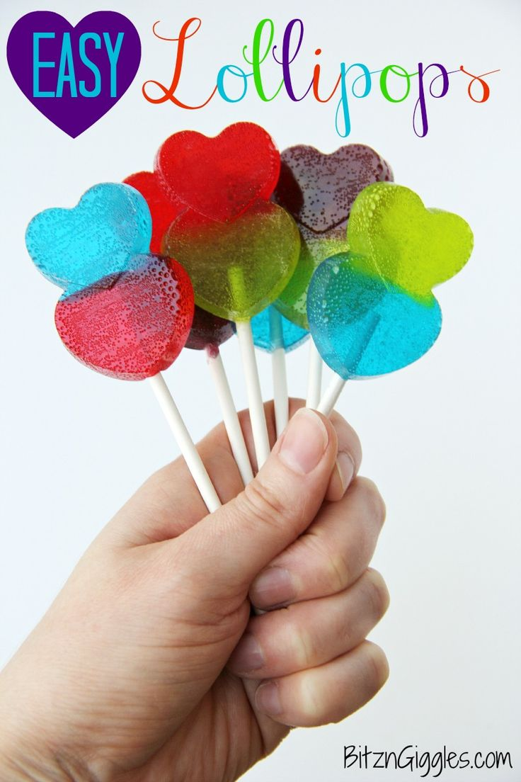 Easy Lollipops 25+ Heart-Shaped Food Ideas | NoBiggie.net