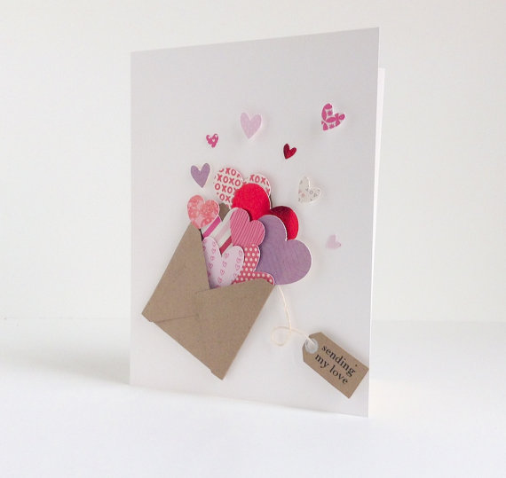 Card Making Ideas For Valentines Day Part - 27: Sending Lots Of Love Valentineu0027s Day Card