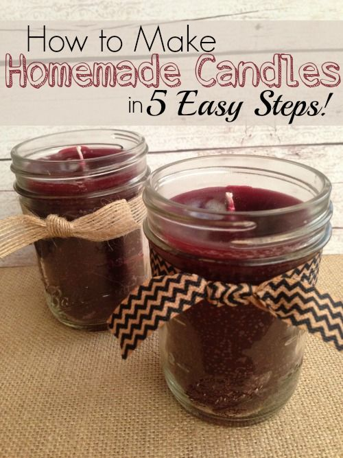 Homemade Candles | 25+ Inexpensive DIY Birthday Gift Ideas for Women