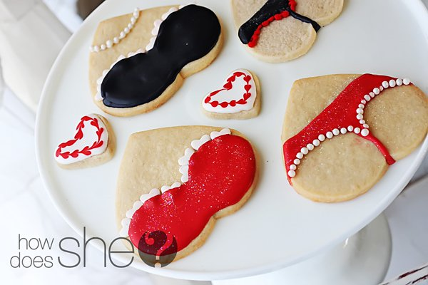 Lingerie Valentine Cookies | 25+ sweet gifts for him for Valentine's Day