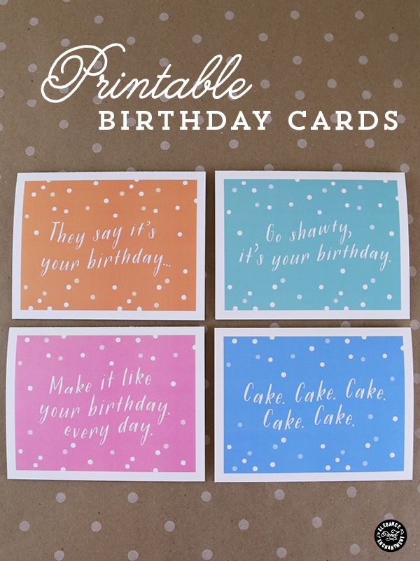 Printable Birthday Cards 25 Inexpensive Diy Gift Ideas For Women