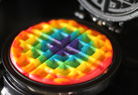 Rainbow Waffles | 25+ Rainbow crafts, food and more