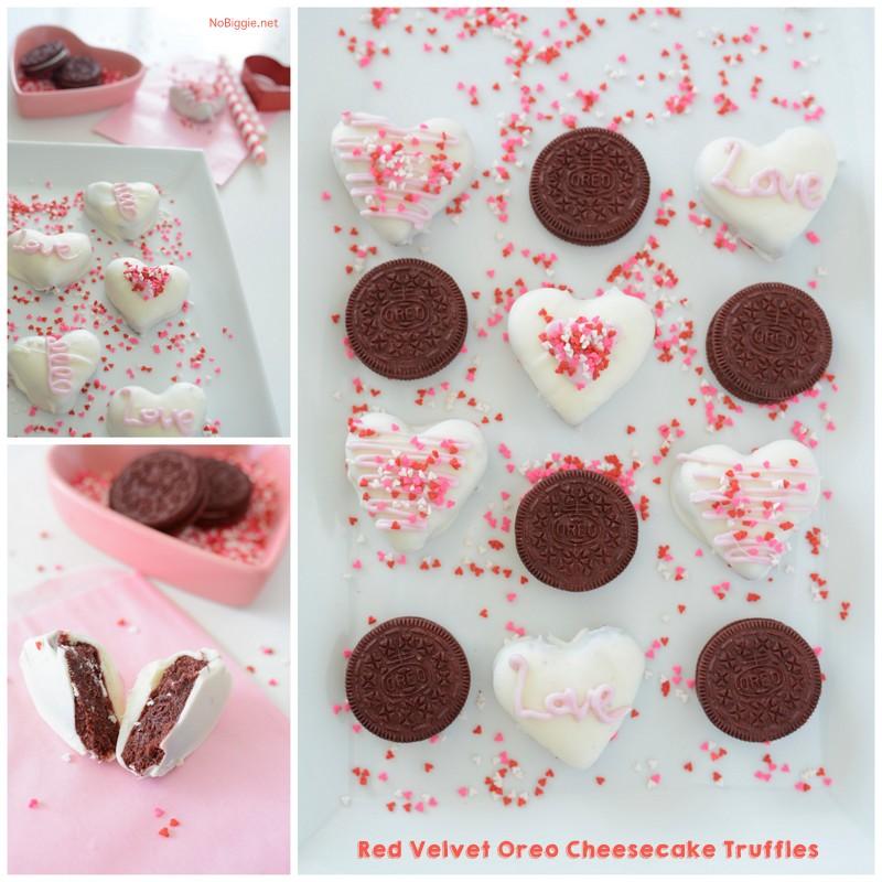 Red Velvet Oreo Cheesecake Truffles | NoBiggie.net