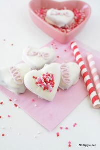 Red Velvet Oreo Truffle Hearts | NoBiggie.net | so simple to make!