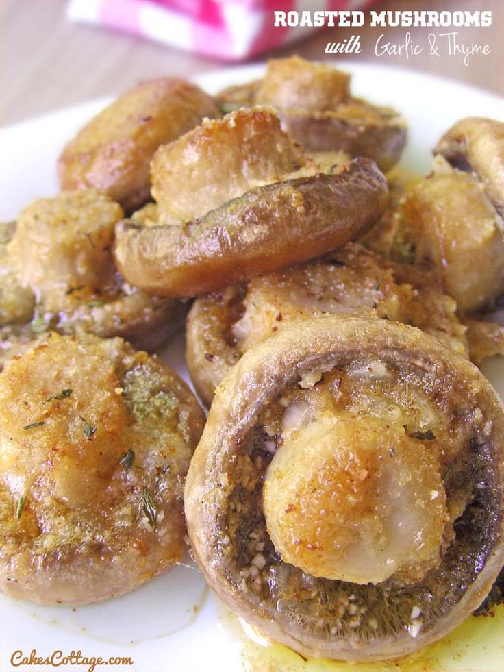 Roasted Garlic Mushrooms | Cakes Cottage