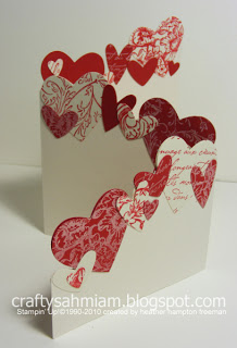25 easy diy valentines day cards trifold punched heart card solutioingenieria Image collections