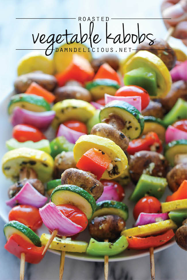 Vegetable Kabobs | 25+ Delicious Vegetable Side Dishes