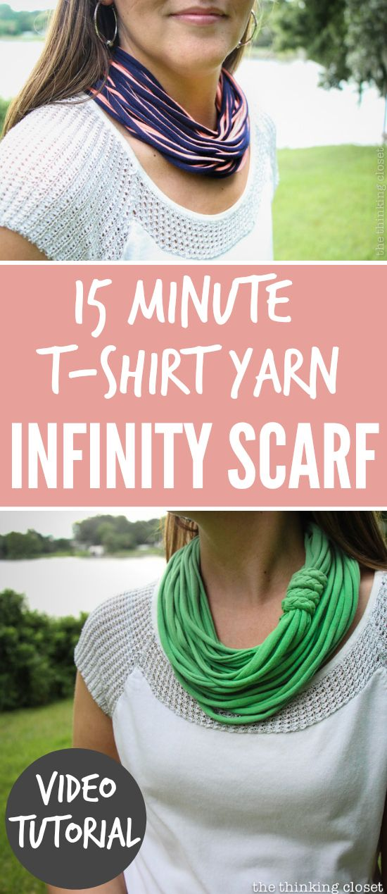 Yarn Infinity Scarf | 25+ Inexpensive DIY Birthday Gift Ideas for Women