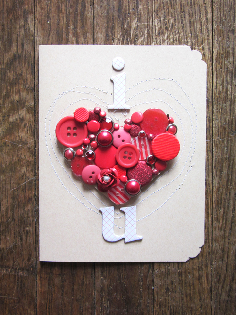button heart card