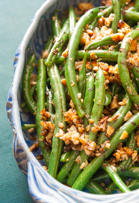 Green Beans with Walnuts and Balsamic | Healthy Seasonal Recipes