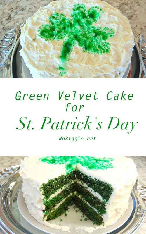 green velvet cake for St. Patrick's Day | recipe on NoBiggie.net