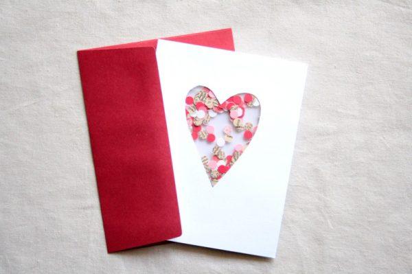 heart Confetti card