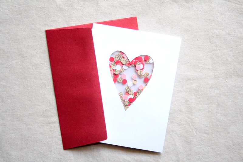 heart Confetti card