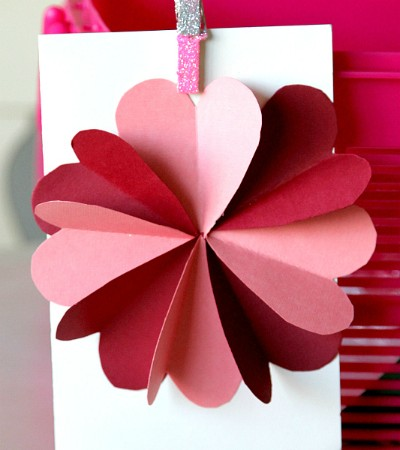 hearts flower card