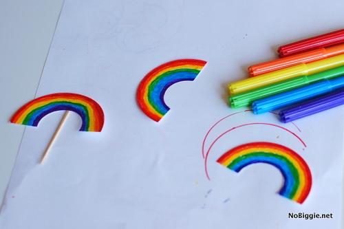 how to make rainbow cupcakes | NoBiggie.net